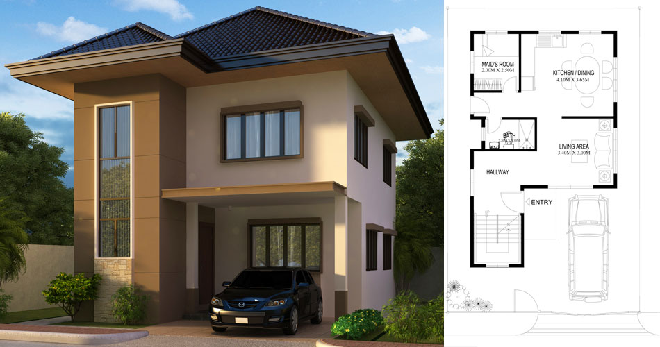Two Story House Plans Series Php 2017004