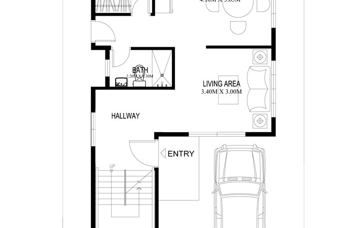 pinoy house plans 2014004 ground floor - Two Storey House Plans