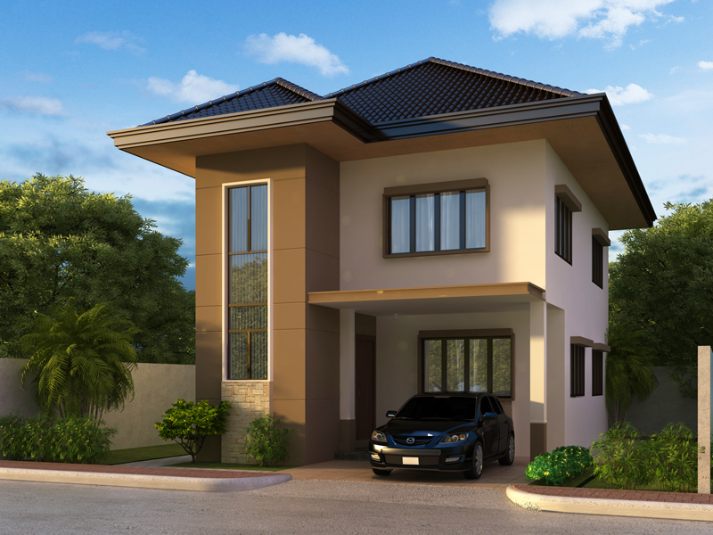 Two story house plans series php 2014004 Simple two story house design