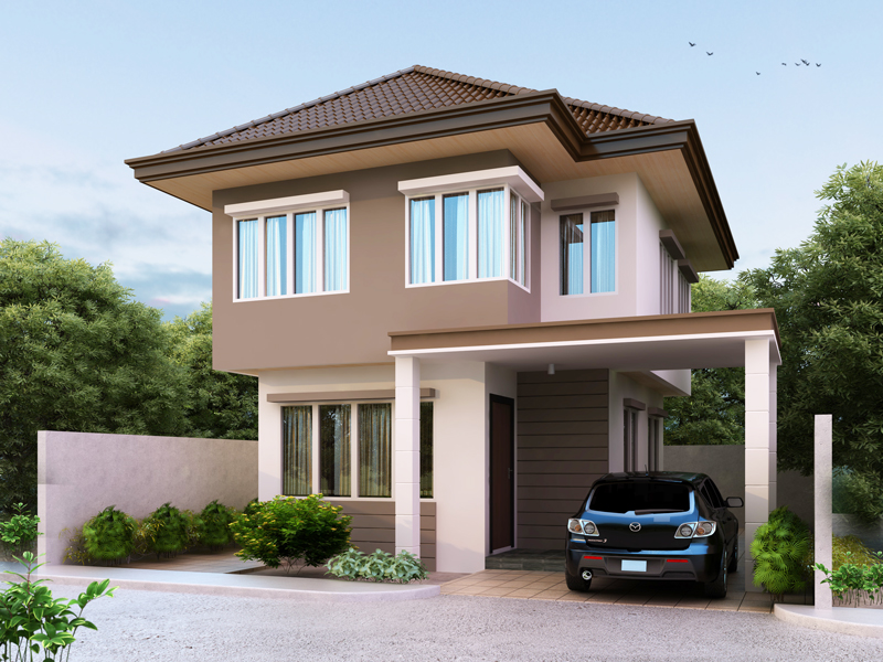 Two story house plans series php 2014003 for 2 story villa floor plans