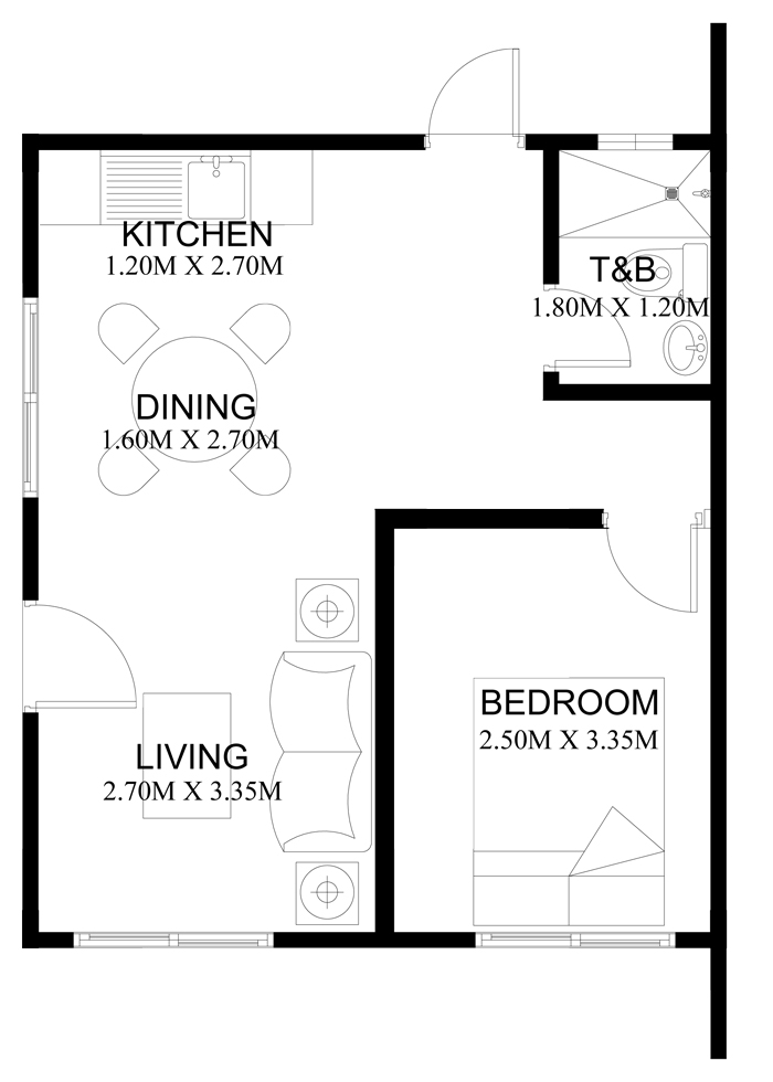 pinoy house plans series php 2014001 21237 | pinoy houseplans 2014001 floor plan
