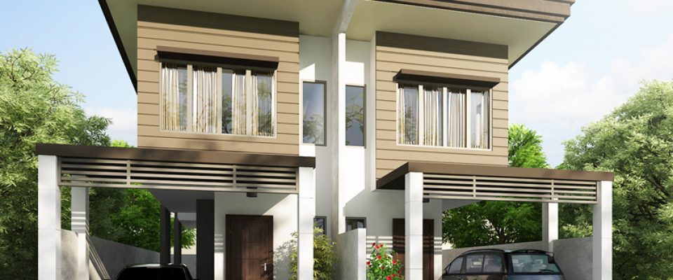 2 story duplex house plans philippines for Duplex builders near me