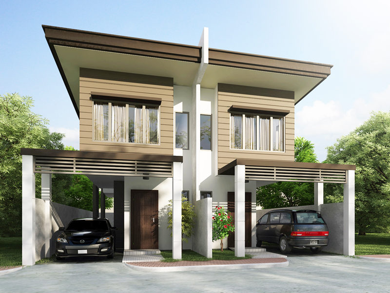 Duplex House plans Series PHP    Pinoy House Plansduplex house plans perspective view