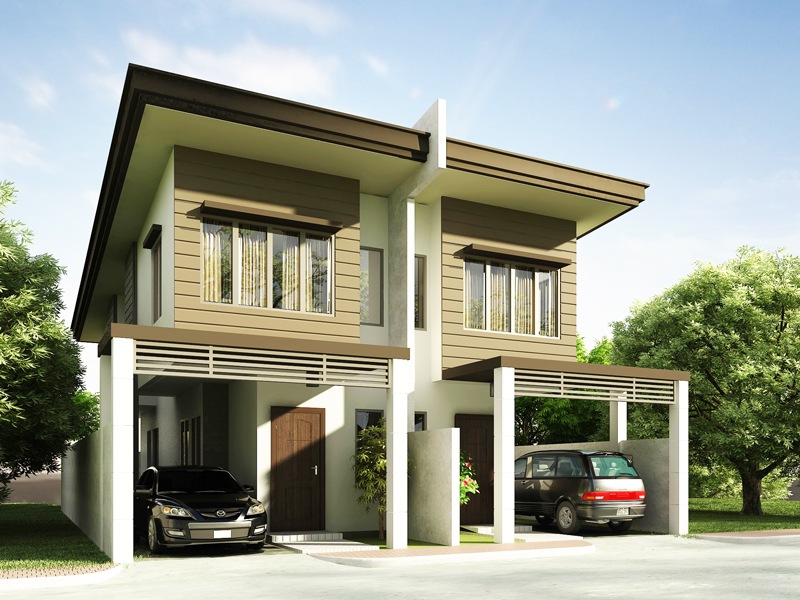 Duplex house plans series php 2014006 for Modern duplex house designs