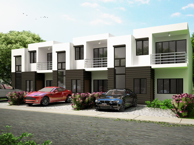 Townhouse plans series php 2014010 for 4 unit townhouse plans