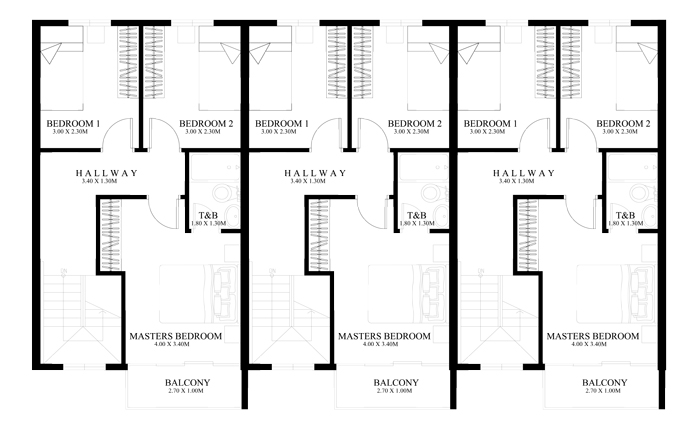 townhouse-plans-PHP2014011-second-floor-plan