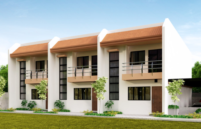 Townhouse plans series php 2014011 for Townhouse construction cost