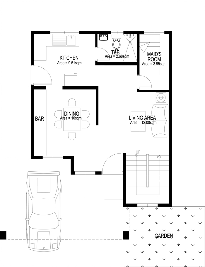 two story house plans php2014007 ground floor plan - Two Storey House Plans