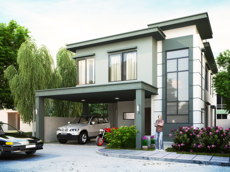 two story house plans PHP2014007 perspective - View Modern Small House Design Philippines 2019  Background