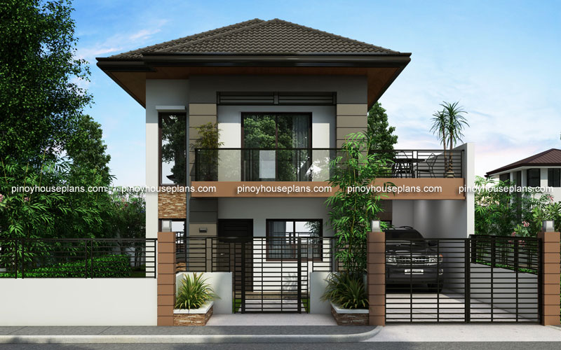Two Story House Plans Series PHP - Simple 2 bedroom house design