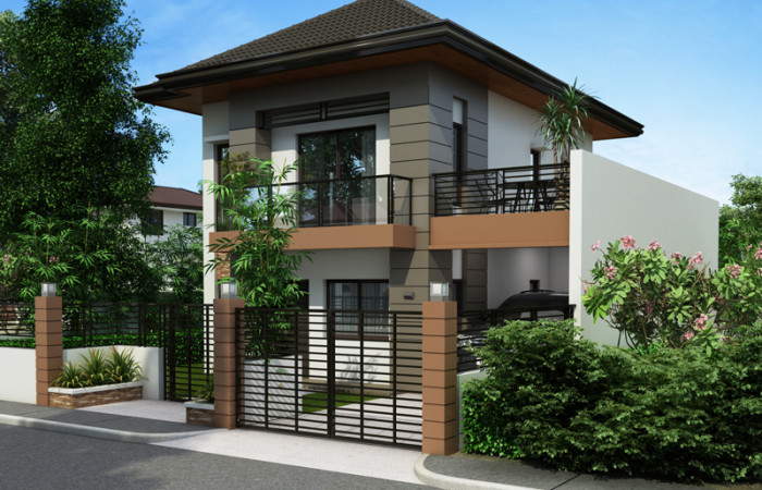 PHP 2014012 RIGHT VIEW 700x450 - 19+ Small 3 Bedroom House Plans Two Storey  Gif