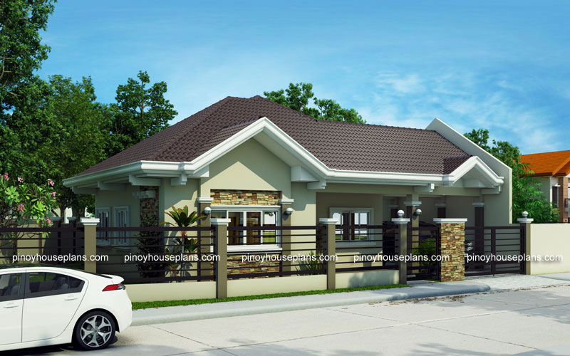 Pinoy house plans series 2015014 for One story house design in the philippines