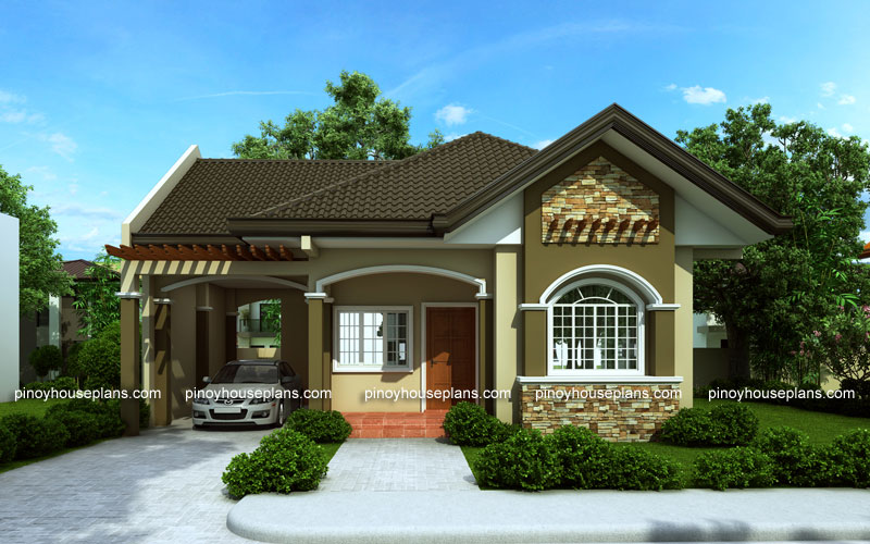 Bungalow house designs series php 2015016 for One story house design in the philippines