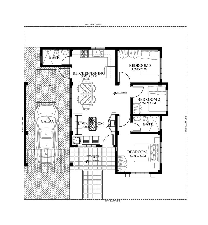 Pinoy House Plan Php 2015016 Floor Plan