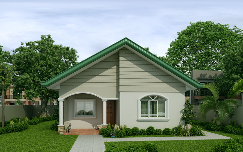 Mariedith 2 bedroom contemporary house plan for Small house design worth 300 000 pesos
