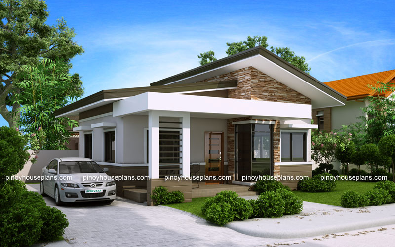 Pinoy House Plans & Elvira - 2 Bedroom small house plan with Porch