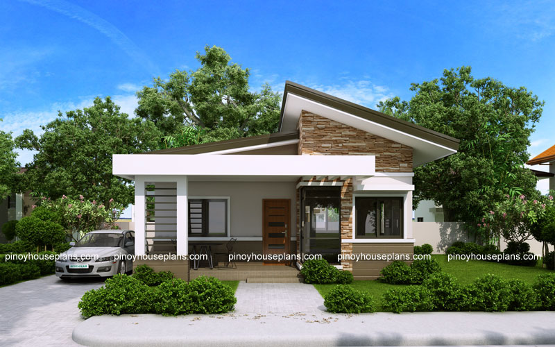 Elvira - 2 Bedroom small house plan with Porch