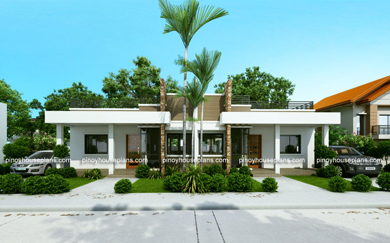 Conchita 2 Bedroom Duplex House Plan Pinoy House Plans