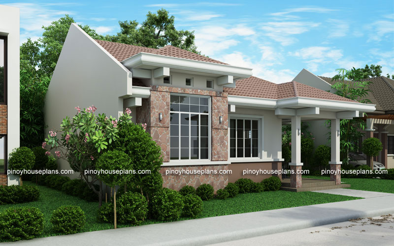 Php 2015022 small efficient house plan with porch for Simple cost effective house plans