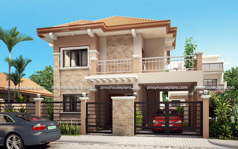 Php 2015023 four bedroom two storey contemporary for One story house design in the philippines