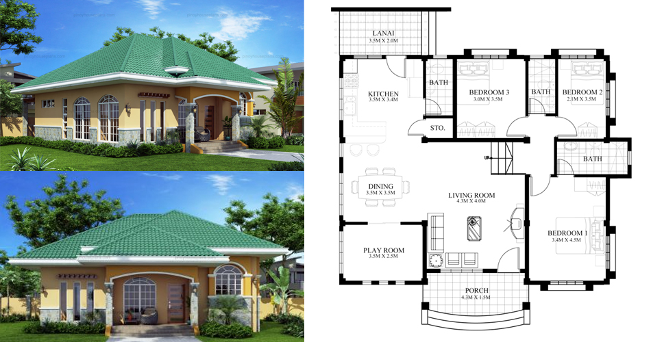 Marcela Elevated Bungalow House Plan