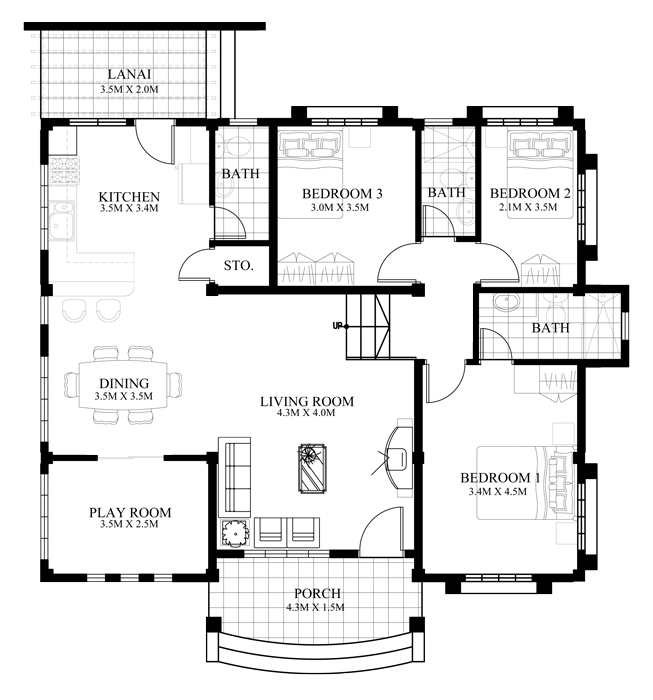 Marcela Elevated Bungalow House Plan Php 2016026 1s Pinoy House Plans These plans are suitable for construction in we have house plans with panoramic windows for modern taste. marcela elevated bungalow house plan