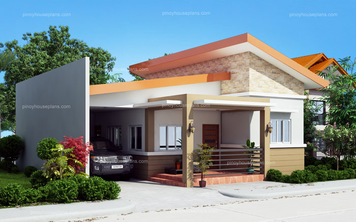 Cecile one story simple house design for Simple house design with floor plan in the philippines
