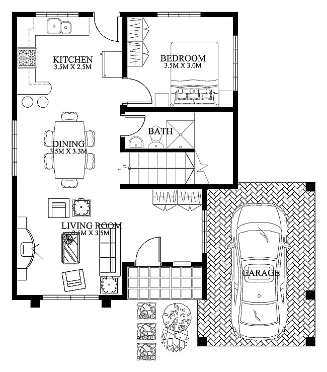 Pinoy Coll House Plan-2015003-ground-floor