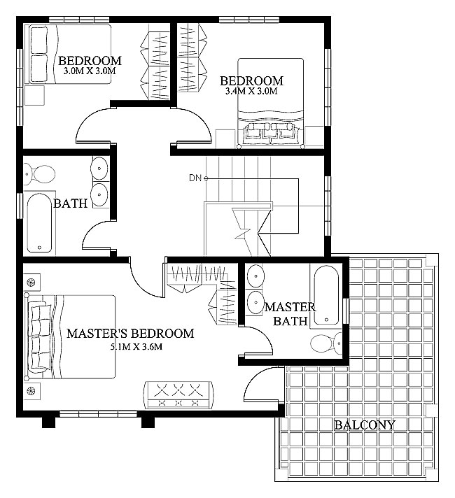 Pinoy Cool House Plan-2015003-second-floor