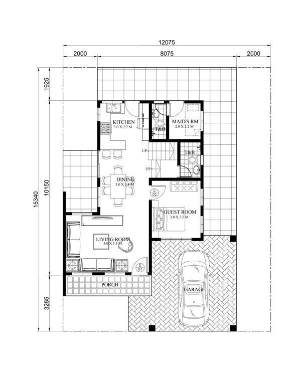 Evelyn two story house plan with firewall Home plan photos