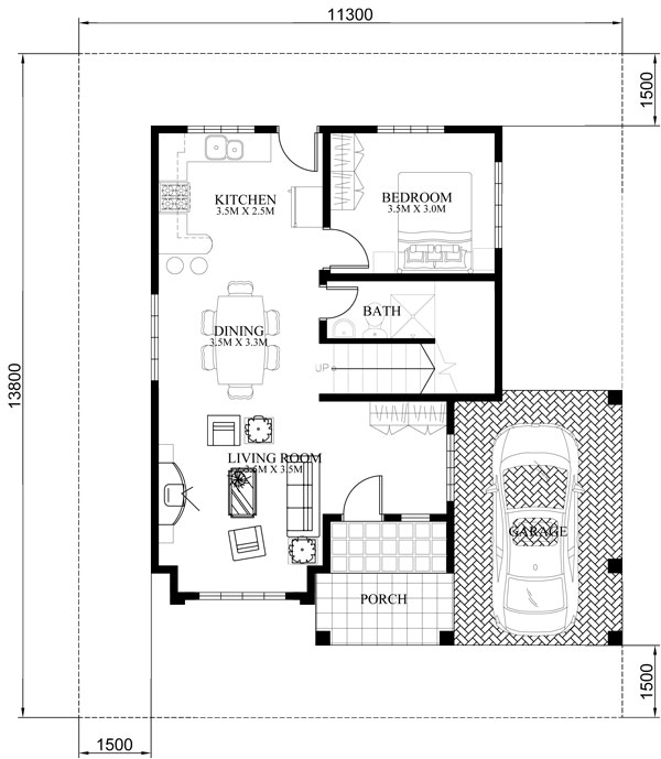 Four Bedroom Two Storey Contemporary Residence-GROUND-FLOOR-PLAN