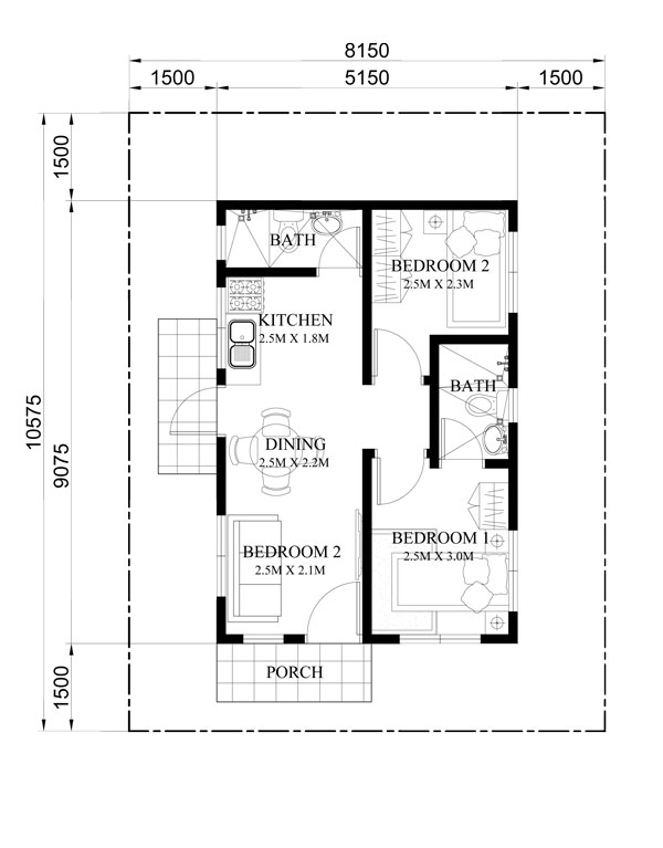 One storey dream house floor plan