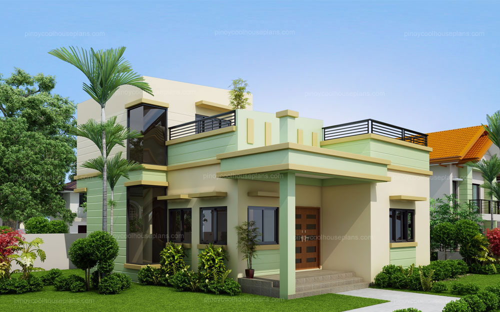 Loraine modern minimalist house plan pinoy house plans for Modern design houses for sale