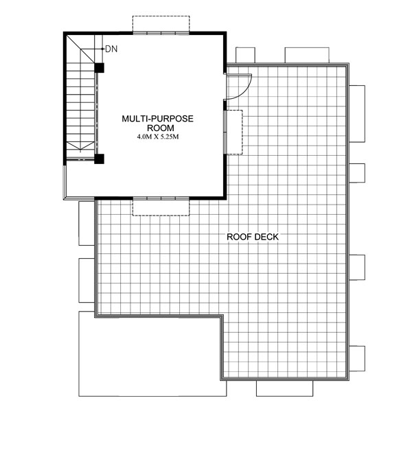 Loraine modern minimalist house plan pinoy house plans for House floor plan with roof deck