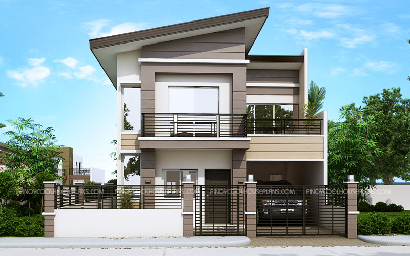 TS 2016014 View01 - Download Low Cost Two Story Small House Design  Gif