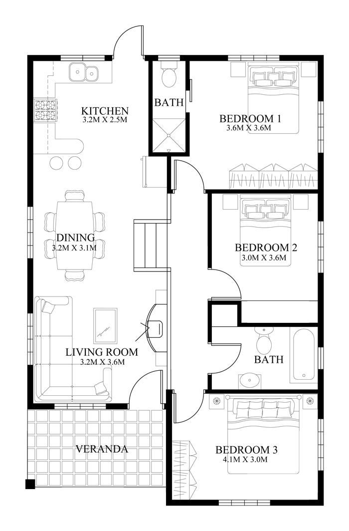One Storey Dream Home floor plan