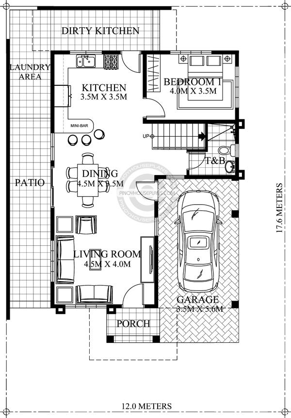 contemporary house plans ground floor