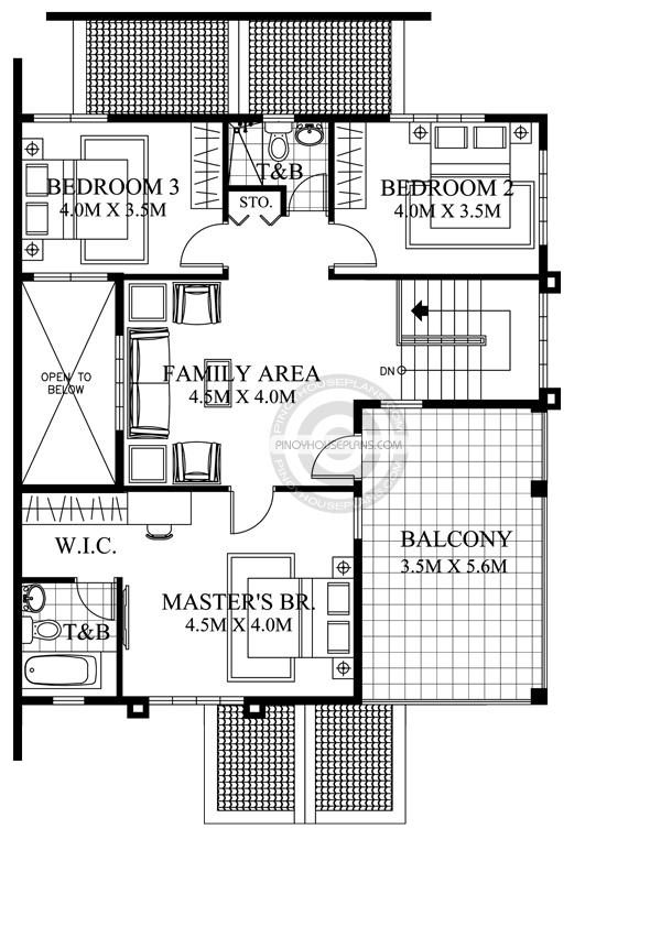 PHP-2017039-2S-Florante-Model-Second-Floor-Plan