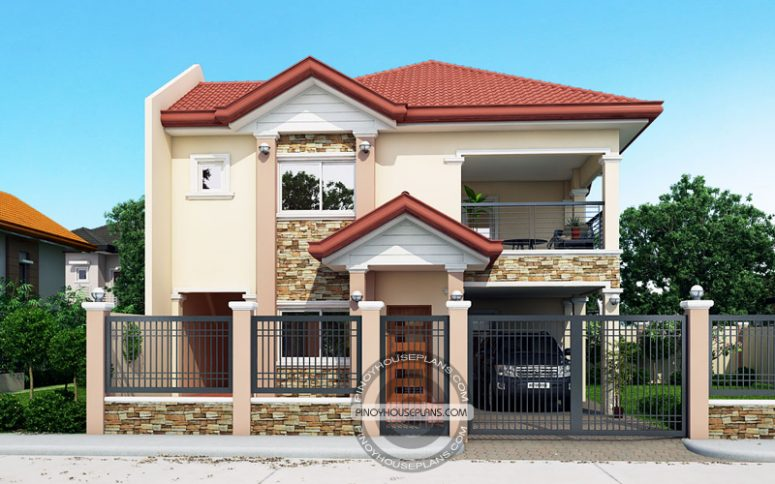 contemporary house plans front view