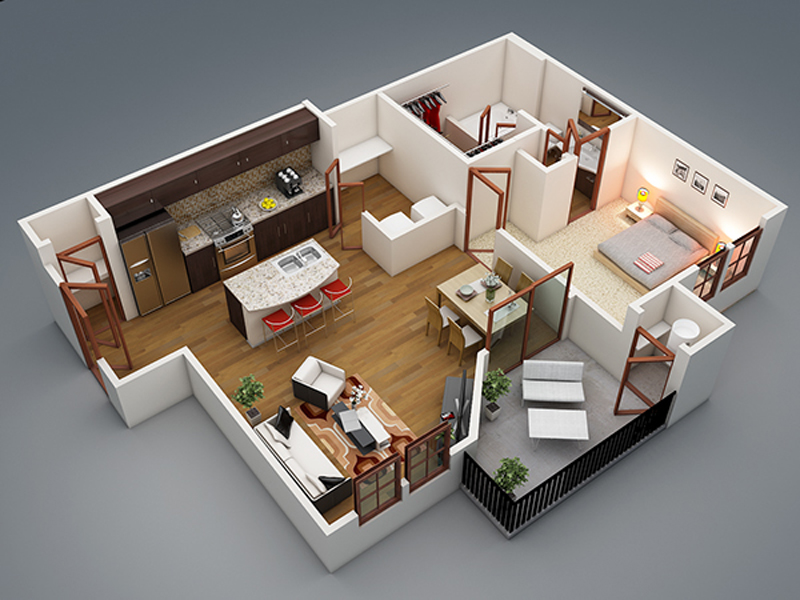 3d House Plan 18 Pinoy House Plans