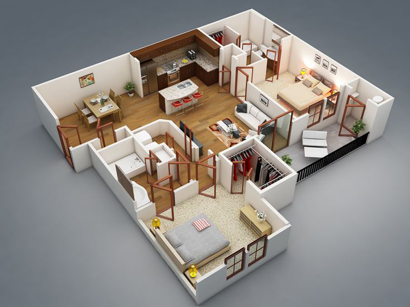 20 Splendid House Plans In 3D - Pinoy House Plans