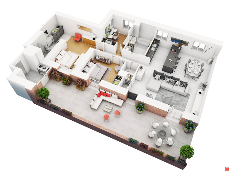 20 Splendid House Plans In 3d Pinoy House Plans