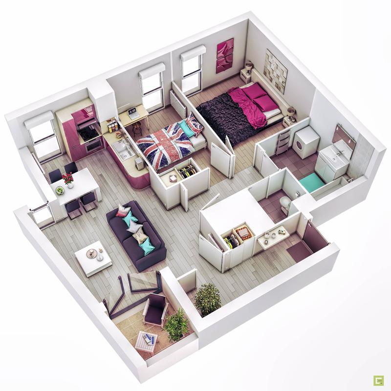 20 Splendid House Plans In 3D