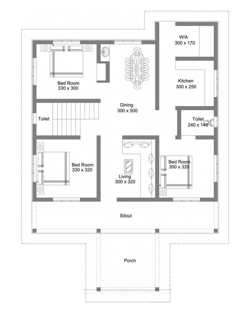 Beautiful single floor house with roof deck Pinoy House Plans