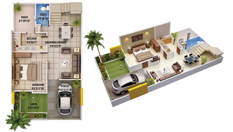 Stunning Duplex House Plans Pinoy House Plans