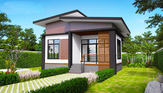 Elevated modern single storey house pinoy house plans for Small single story modern house plans