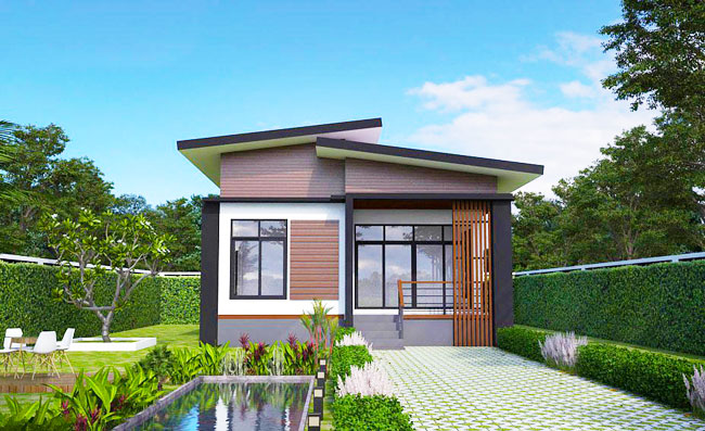 Elevated modern single storey house pinoy house plans for One story modern house