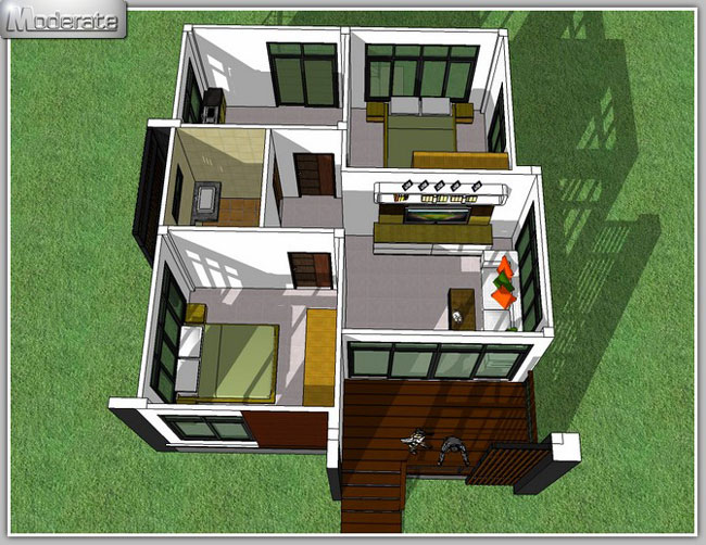 Elevated Modern Single Storey House - Pinoy House Plans