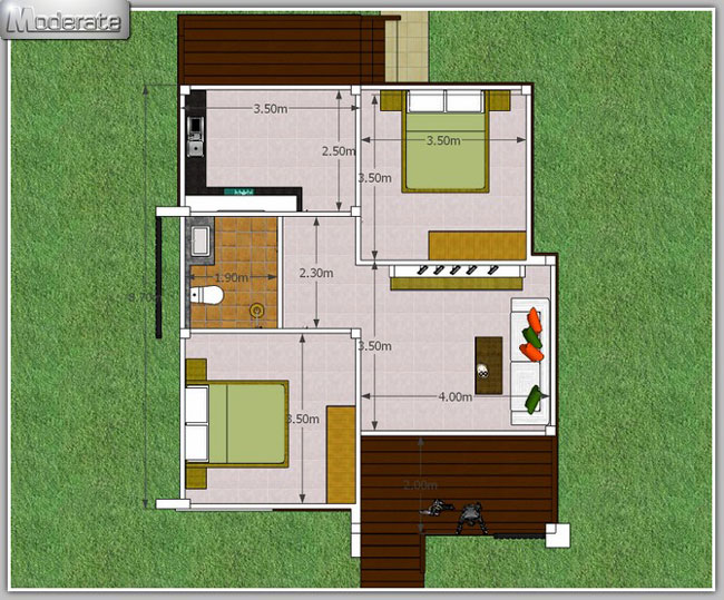 Elevated-Modern-Single-Storey-House9 - Pinoy House Plans