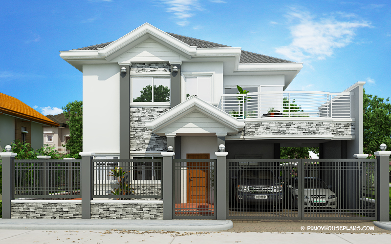 Four Bedroom 2 Story Traditional Home Plan - Pinoy House Plans